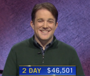 Patrick Hume, today's Jeopardy! winner (for the April 15, 2021 game.)