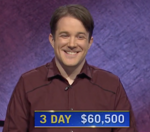 Patrick Hume, today's Jeopardy! winner (for the April 16, 2021 game.)