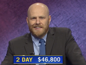 Scott Shewfelt, today's Jeopardy! winner (for the April 2, 2021 game.)