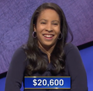 Hanna Howard, today's Jeopardy! winner (for the May 4, 2021 game.)