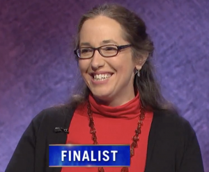 Jennifer Quail, today's Jeopardy! winner (for the May 26, 2021 game.)