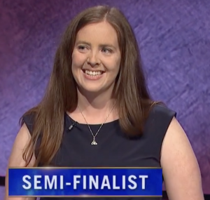 Karen Farrell, today's Jeopardy! winner (for the August 31, 2021 game.)
