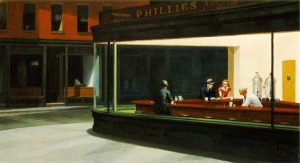 """Edward Hopper's """"Nighthawks"""", as asked about during Final Jeopardy! on September 6, 2021."""