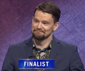 Sam Kavanaugh, today's Jeopardy! winner (for the September 6, 2021 game.)