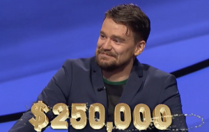 Sam Kavanaugh, today's Jeopardy! winner (for the May 28, 2021 game.)