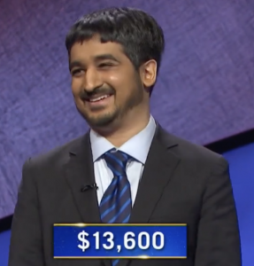 Ankit Gupta, today's Jeopardy! winner (for the June 10, 2021)