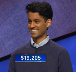 Arman Ramnath, today's Jeopardy! winner (for the June 24, 2021 game.)