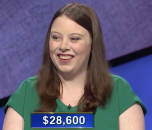 Emily White, today's Jeopardy! winner (for the June 17, 2021 game.)