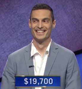 John Alba Cutler, today's Jeopardy! winner (for the June 2, 2021 game.)