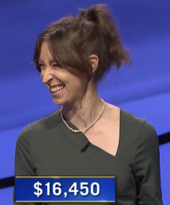 Julia Markham Cameron, today's Jeopardy! winner (for the June 3, 2021 game.)