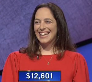 Robin Lozano, today's Jeopardy! winner (for the June 1, 2021 game.)