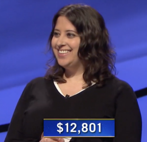 Sarah Reza, today's Jeopardy! winner (for the June 16, 2021 game.)