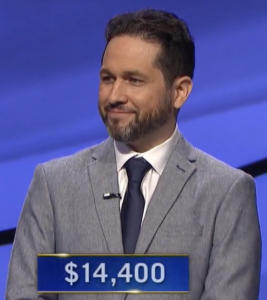 Tim Lopez, today's Jeopardy! winner (for the June 8, 2021 game.)