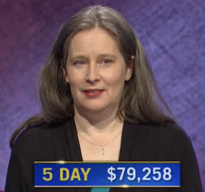 Courtney Shah, today's Jeopardy! winner (for the July 2, 2021 game.)