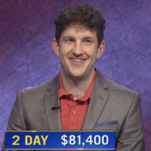Matt Amodio, today's Jeopardy! winner (for the July 22, 2021 game.)