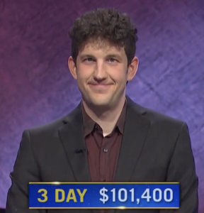 Matt Amodio, today's Jeopardy! winner (for the July 23, 2021 game.)