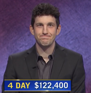 Matt Amodio, today's Jeopardy! winner (for the July 26, 2021 game.)