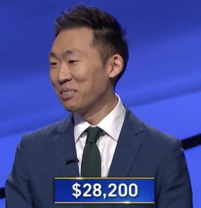Tim Moon, today's Jeopardy! winner (for the July 12, 2021 game.)