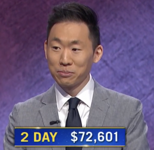 Tim Moon, today's Jeopardy! winner (for the July 13, 2021 game.)