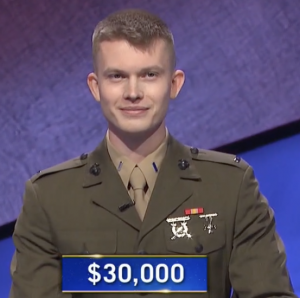 Tyler Vandenberg, today's Jeopardy! winner (for the July 14, 2021 game.)