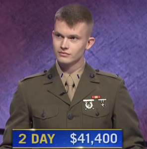 Tyler Vandenberg, today's Jeopardy! winner (for the July 15, 2021 game.)