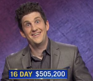 Matt Amodio, today's Jeopardy! winner (for the August 11, 2021 game.)
