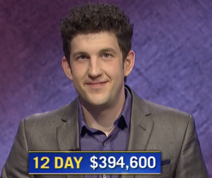 Matt Amodio, today's Jeopardy! winner (for the August 5, 2021 game.)