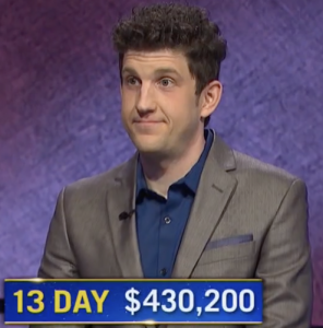 Matt Amodio, today's Jeopardy! winner (for the August 6, 2021 game.)