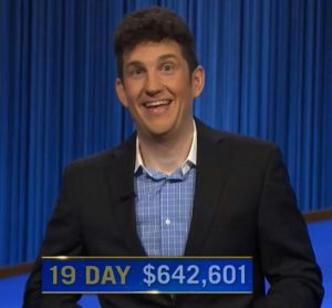 Matt Amodio, today's Jeopardy! winner (for the September 13, 2021 game.)