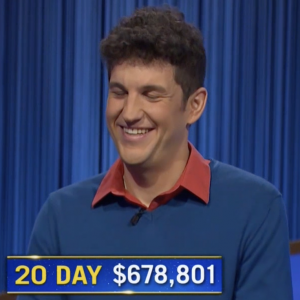 Matt Amodio, today's Jeopardy! winner (for the September 14, 2021 game.)