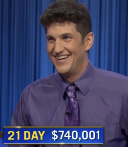 Matt Amodio, today's Jeopardy! winner (for the September 15, 2021 game.)