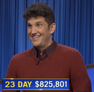 Matt Amodio, today's Jeopardy! winner (for the September 17, 2021 game.)