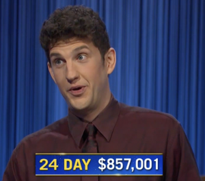 Matt Amodio, today's Jeopardy! winner (for the September 20, 2021 game.)