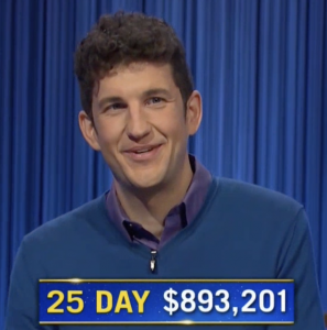 Matt Amodio, today's Jeopardy! winner (for the September 21, 2021 game.)