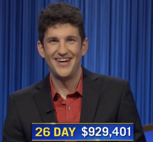 Matt Amodio, today's Jeopardy! winner (for the September 22, 2021 game.)