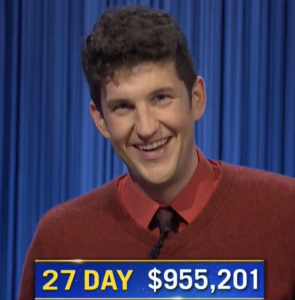 Matt Amodio, today's Jeopardy! winner (for the September 23, 2021 game.)