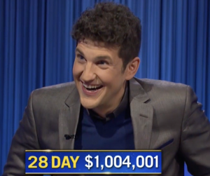 Matt Amodio, today's Jeopardy! winner (for the September 24, 2021 game.)