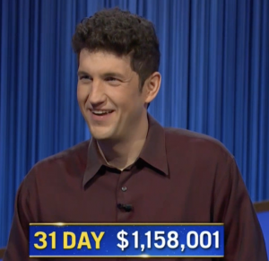 Matt Amodio, today's Jeopardy! winner (for the September 29, 2021 game.)