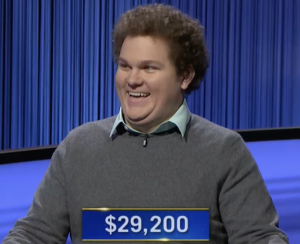 Jonathan Fisher, today's Jeopardy! winner (for the October 11, 2021 game.)