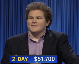Jonathan Fisher, today's Jeopardy! winner (for the October 12, 2021 game.)