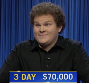 Jonathan Fisher, today's Jeopardy! winner (for the October 13, 2021 game.)