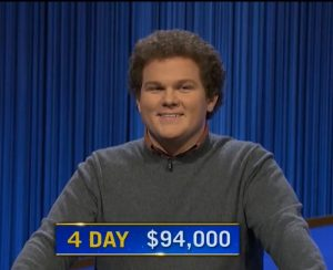 Jonathan Fisher, today's Jeopardy! winner (for the October 14, 2021 game.)