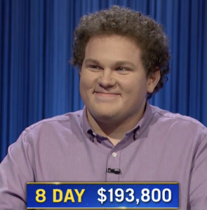 Jonathan Fisher, today's Jeopardy! winner (for the October 20, 2021 game.)