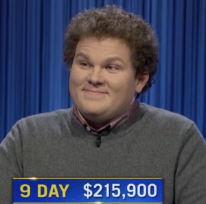 Jonathan Fisher, today's Jeopardy! winner (for the October 21, 2021 game.)