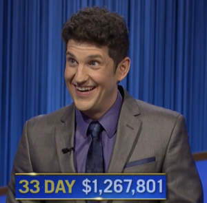 Matt Amodio, today's Jeopardy! winner (for the October 1, 2021 game.)