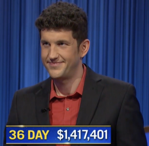 Matt Amodio, today's Jeopardy! winner (for the October 6, 2021 game.)