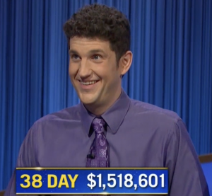 Matt Amodio, today's Jeopardy! winner (for the October 8, 2021 game.)
